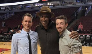 This gay couple got engaged at the Chicago Bulls game last night, an NBA first.