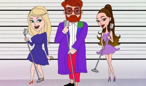 "Ariana Grande and Meghan Trainor recorded a duet with the singer under the pseudonym of ""Who Is Fancy."""