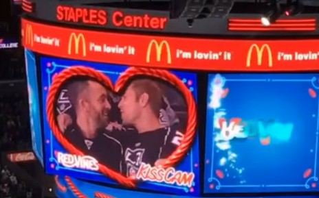 Kiss of century. Gay Couple rewrote the history of the NHL