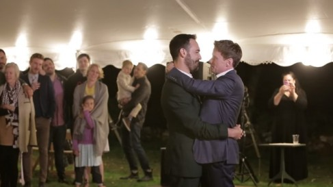 Gay couple from New York shocked the audience with their wedding dance