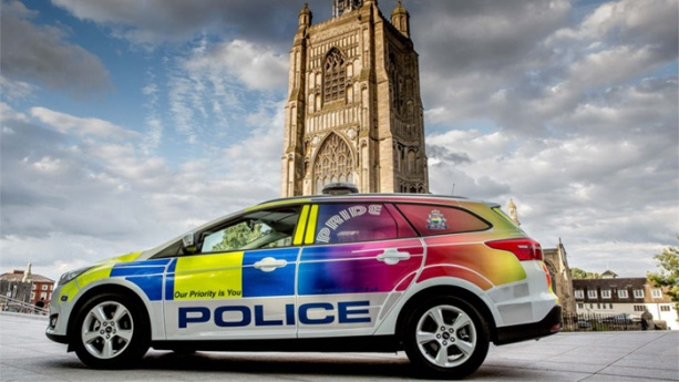 UK police launch rainbow patrol car to make a stand against hate crime