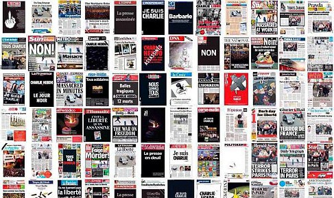The world's media have devoted the cover of the terrorist attack in Paris