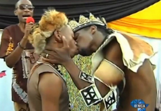 In South Africa, the two men were married to ancient African traditions