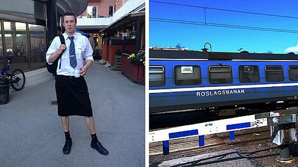 Swedish Male Train Drivers Wear Skirts to Work